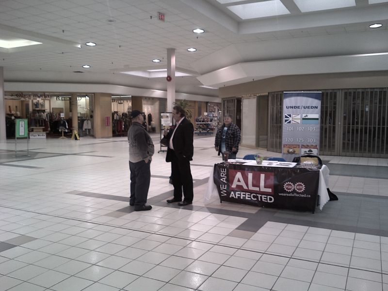 Engaging and informing the public on a few important topics such as EI reform and how it will hurt the Atlantic Canada