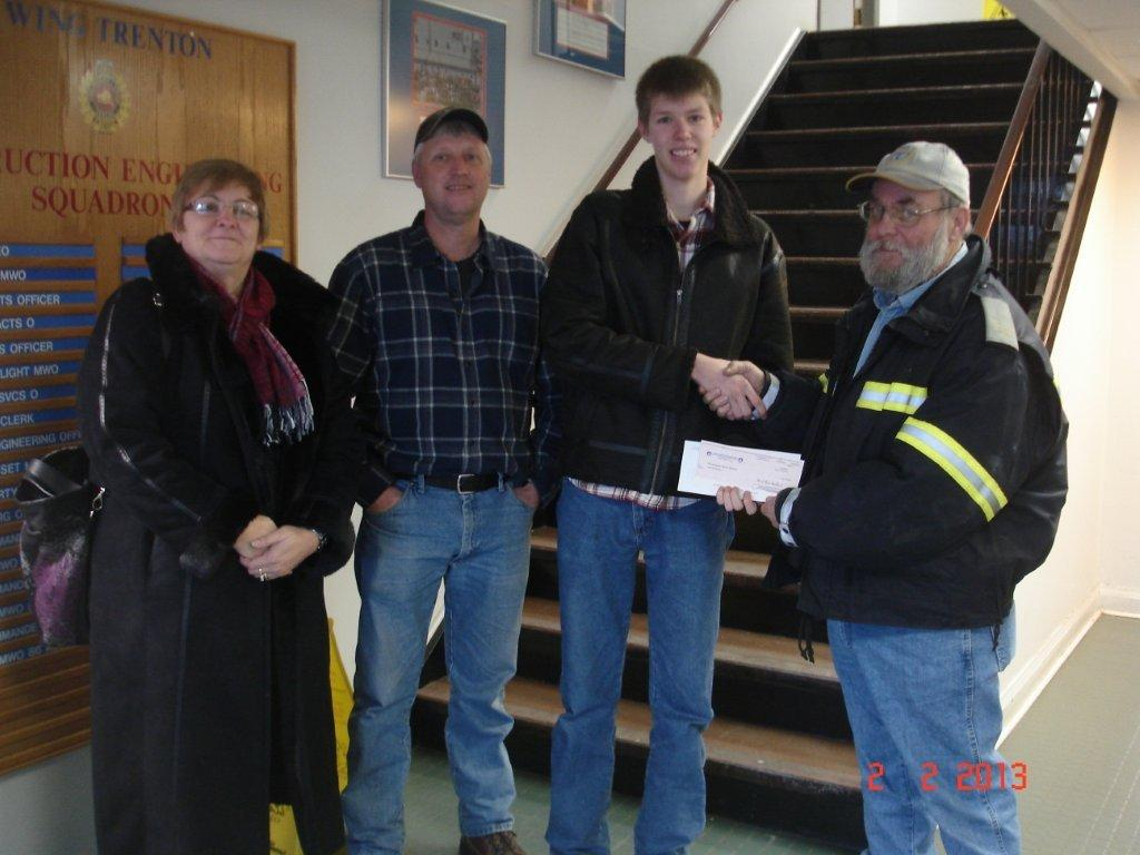 Josh Hoekstra, Local 70637, Trenton, Ontario, awarded the Gary Smith Scholarship