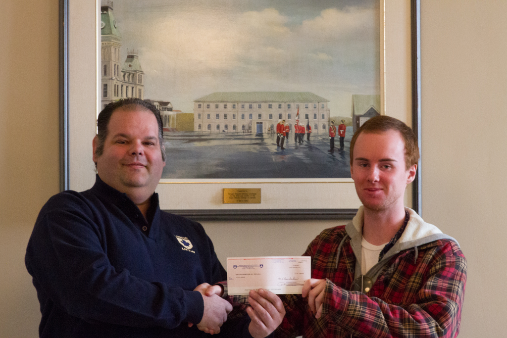 Kyle Sinon, Local 70641, Kingston, Ontario, awarded the Ken Green Scholarship